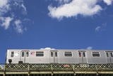 Above Ground Subway Cars Photographic Print by  fotog1