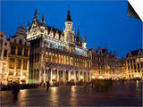 Evening, Musee De La Ville De Bruxelles, Grand Place, Brussels, Belgium, Europe Print by Martin Child