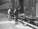Train Guard Photographic Print by Fox Photos
