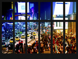 Window View - Times Square by Night - Manhattan - New York City Photographic Print by Philippe Hugonnard