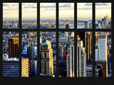 Window View - Skyscrapers of Lower Manhattan - New York City Photographic Print by Philippe Hugonnard