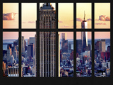 Window View - Landscape with the Empire State Building and the 1 WTC - Manhattan - NYC Photographic Print by Philippe Hugonnard