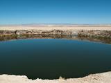 Round Salt Lake in Atacama Desert Photographic Print by Caroline von Tuempling