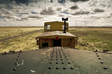 A Rail Car on the Flat Prairies Photographic Print by Jonathon Olenick