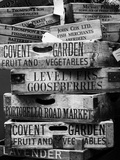 Old Wooden Crates used on Markets in London - Portobello Road Market - Notting Hill - UK - England Photographic Print by Philippe Hugonnard