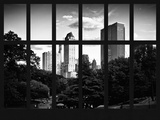 Window View - View on Trails and Buildings Central Park - Manhattan - New York City Photographic Print by Philippe Hugonnard