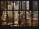 Window View - Theater District and Times Square - Midtown Manhattan - New York City Photographic Print by Philippe Hugonnard