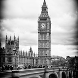 View of Big Ben from across the Westminster Bridge - London - UK - England - United Kingdom Photographic Print by Philippe Hugonnard