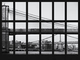 Window View - View of the Brooklyn Bridge and Manhattan Bridge - Manhattan - New York City Photographic Print by Philippe Hugonnard