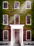 Facade of an English House with Ivy Leaves - Mallinson House in St Albans - London - UK Photographic Print by Philippe Hugonnard