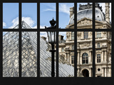 Window View - Louvre Museum Building and Glass Pyramids - Paris - France - Europe Photographic Print by Philippe Hugonnard