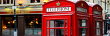Red Telephone Booths - London - UK - England - United Kingdom - Europe - Panoramic Photography Photographic Print by Philippe Hugonnard