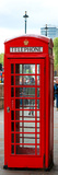 Red Telephone Booths - London - UK - England - United Kingdom - Europe - Door Poster Photographic Print by Philippe Hugonnard