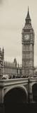 View of Big Ben from across the Westminster Bridge - London - England - UK - Door Poster Fotografie-Druck von Philippe Hugonnard