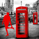 Art Print Series - Red Telephone Booths - London - UK - England - United Kingdom - Europe Photographic Print by Philippe Hugonnard