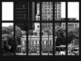Window View - View of Independence Hall and Pennsylvania State House Buildings - Philadelphia Photographic Print by Philippe Hugonnard