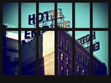 Window View - View of the Hotel Empire at Manhattan - New York City Photographic Print by Philippe Hugonnard
