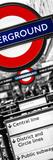 The Underground - Subway Station Sign - London - UK - England - United Kingdom - Door Poster Photographic Print by Philippe Hugonnard