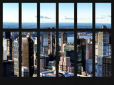Window View of Manhattan - Upper West Side Manhattan and Hudson River - New York City Photographic Print by Philippe Hugonnard