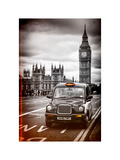 London Taxi and Big Ben - London - UK - England - United Kingdom - Europe Photographic Print by Philippe Hugonnard