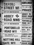 Antique Enamelled Signs - W11 Railroad Wall Plaque Signs - Wall Signs - Notting Hill - London - UK Photographic Print by Philippe Hugonnard