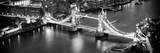 View of City of London with the Tower Bridge at Night - London - UK - England - United Kingdom Fotografisk trykk av Philippe Hugonnard