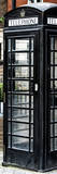 Old Black Telephone Booth on a Street in London - City of London - UK - Photography Door Poster Photographic Print by Philippe Hugonnard