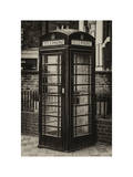 Old Black Telephone Booth on a Street in London - City of London - UK - England - United Kingdom Photographic Print by Philippe Hugonnard