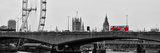 Waterloo Bridge and London Eye - Big Ben and Millennium Wheel - River Thames - City of London - UK Photographic Print by Philippe Hugonnard