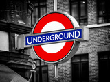 The Underground - Subway Station Sign - London - UK - England - United Kingdom - Europe Photographic Print by Philippe Hugonnard