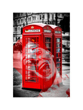 Art Print Series - London Calling - Phone Booths - UK Red Phone - London - England Photographic Print by Philippe Hugonnard
