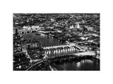 View of City of London with St. Paul's Cathedral and River Thames at Night - London - UK - England Photographic Print by Philippe Hugonnard