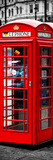 London Calling - Phone Booths - UK Red Phone - London - England - United Kingdom - Door Poster Photographic Print by Philippe Hugonnard