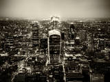 View of City of London with The Walkie-Talkie and The Gherkin Buildings at Nightfall - London - UK Photographic Print by Philippe Hugonnard