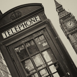 Red Phone Booth in London with the Big Ben - City of London - UK - England - United Kingdom Photographic Print by Philippe Hugonnard