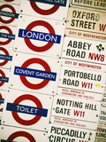 Antique Enamelled Signs - Subway Station and W11 Railroad Wall Plaque Signs - London - UK Photographic Print by Philippe Hugonnard