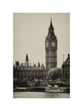 The Houses of Parliament and Big Ben - Hungerford Bridge and River Thames - City of London - UK Photographic Print by Philippe Hugonnard