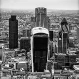 View of City of London with The Walkie-Talkie and The Gherkin Buildings - London - UK - England Photographic Print by Philippe Hugonnard