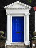 Victorian Blue Door - Architecure & Buildings - London - UK - England - United Kingdom - Europe Photographic Print by Philippe Hugonnard