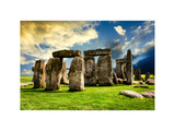 Stonehenge - Abstract of Stones - Wiltshire - UK - England - United Kingdom - Europe Photographic Print by Philippe Hugonnard