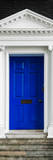 Victorian Blue Door - Architecure & Buildings - London - UK - England - Photography Door Poster Photographic Print by Philippe Hugonnard