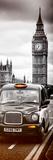 London Taxi and Big Ben - London - UK - England - United Kingdom - Europe - Door Poster Fotografisk tryk af Philippe Hugonnard