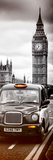 London Taxi and Big Ben - London - UK - England - United Kingdom - Europe - Door Poster Photographic Print by Philippe Hugonnard