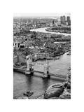 View of City of London with Tower Bridge - London - UK - England - United Kingdom - Europe Photographic Print by Philippe Hugonnard