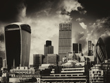 31 Fenchurch Street and 30 St Mary Axe at Sunset - The Walkie-Talkie and The Gherkin - London - UK Photographic Print by Philippe Hugonnard