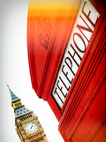 Red Phone Booth in London with Big Ben - City of London - UK - England - United Kingdom - Europe Photographic Print by Philippe Hugonnard