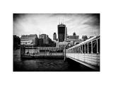 Jetty of The River Thames View with the 20 Fenchurch Street Building (The Walkie-Talkie) - London Photographic Print by Philippe Hugonnard