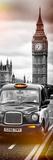 London Taxi and Big Ben - London - UK - England - United Kingdom - Europe - Door Poster Fotografisk trykk av Philippe Hugonnard