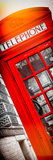 Red Phone Booth in London with the Big Ben - City of London - UK - Photography Door Poster Photographic Print by Philippe Hugonnard