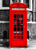 Red Phone Booth in London - City of London - UK - England - United Kingdom - Europe Photographic Print by Philippe Hugonnard